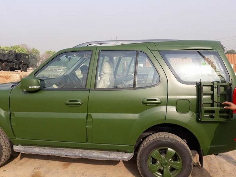 Tata Safari Storme Army Edition Spotted: Images And Details