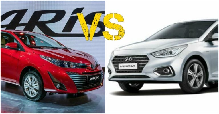 Toyota Yaris Vs Hyundai Verna – Specification Comparison