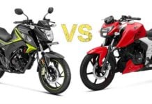 apache rtr 160 vs honda cb hornet comparison