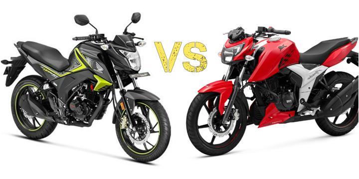 Apache RTR 160 4V VS Honda CB Hornet 160R – Specification Comparison