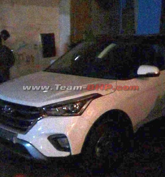 hyundai creta facelift india spy shot