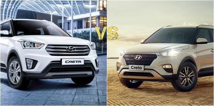 hyundai creta facelift vs creta front profile