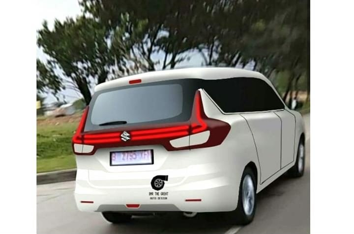 New Maruti Ertiga rendering rear