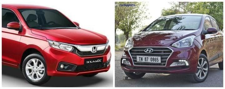 2018 Honda Amaze vs Xcent-720x600