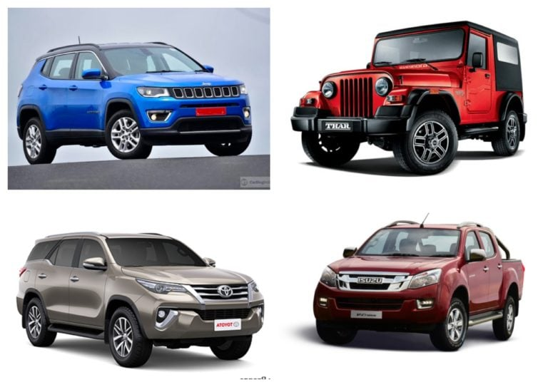 Best Off-Road SUVs In India – Price, Features And Specs