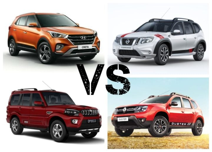 2018 Hyundai Creta Facelift Vs Competition Price Comparison