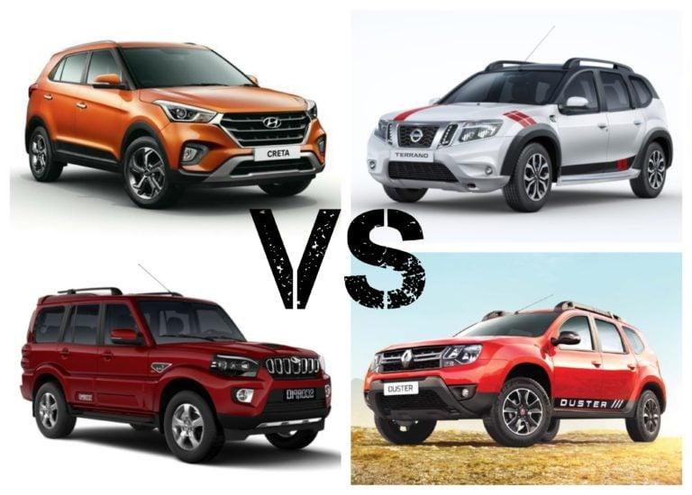 2018 Hyundai Creta Facelift Vs Competition – Price Comparison