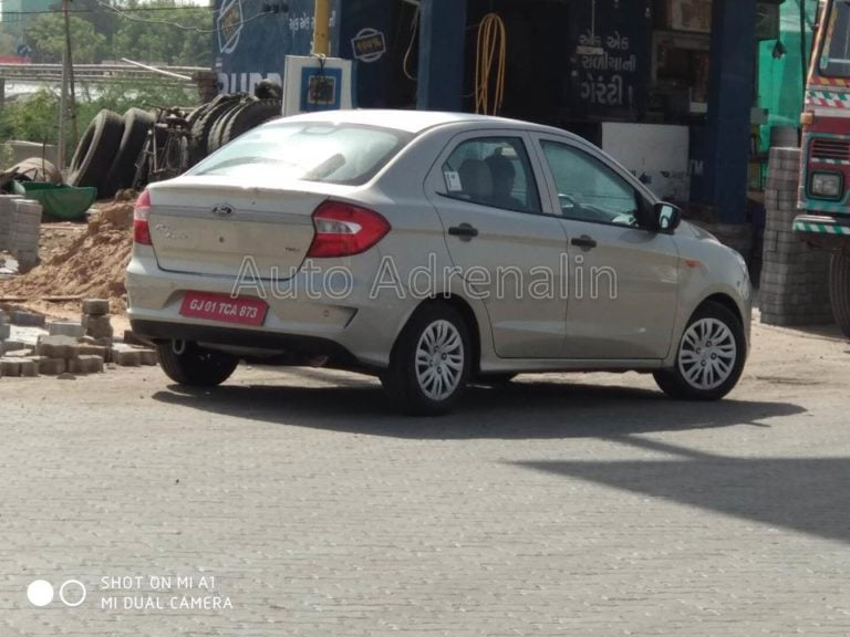 2018 Ford Aspire New Spy Images Revealed; Gets Some Minor Cosmetic Changes