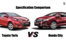 Toyota Yaris Vs Honda City comparison image