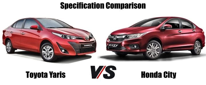 Toyota Yaris Vs Honda City comparison image