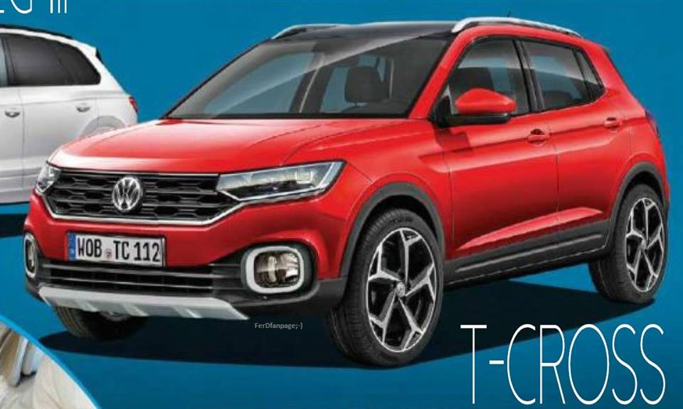 volkswagen t cross photos leaked online to launch in india by 2019. Black Bedroom Furniture Sets. Home Design Ideas