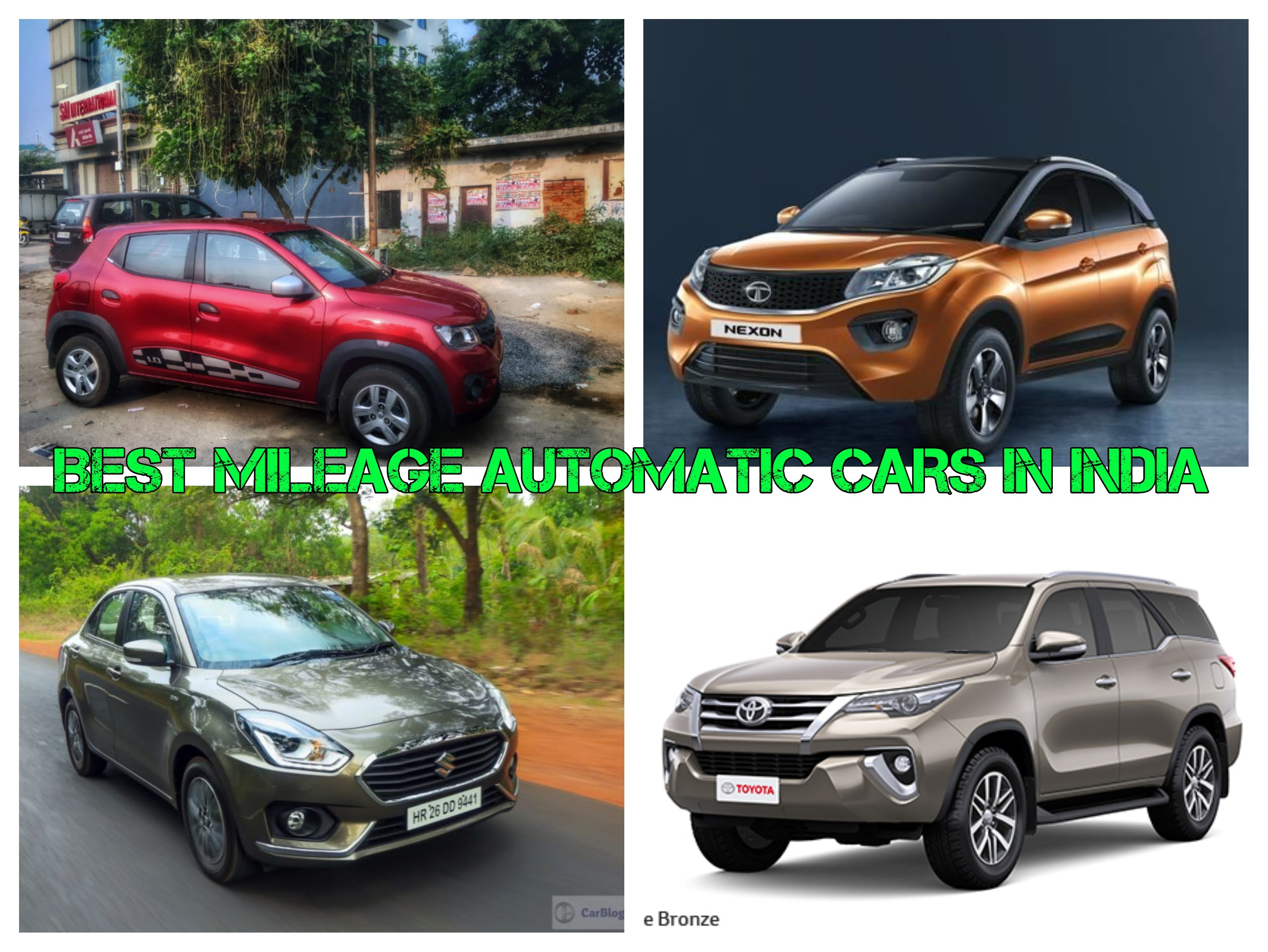 Best Mileage Automatic Cars In India Price And Specifications