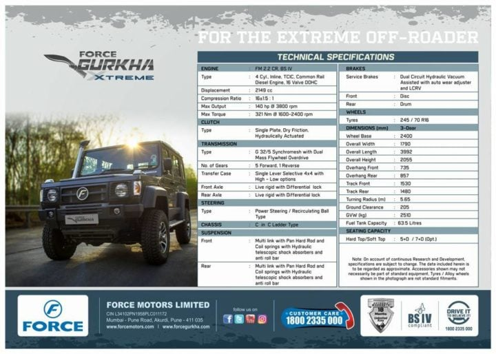 Force Gurkha Xtreme