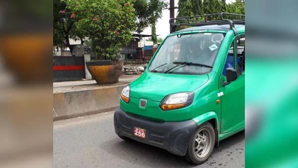 Bajaj Car (Qute) Quadricycle CNG Variant Spotted Testing; Launch Soon