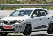 renault kwid facelift spy image one front