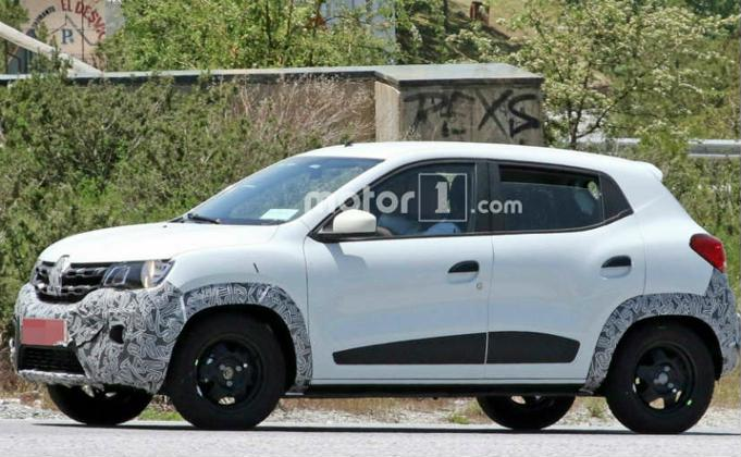 renault kwid facelift spotted testing india launch likely next year. Black Bedroom Furniture Sets. Home Design Ideas