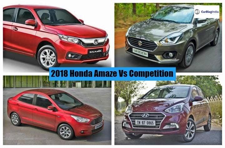2018 Honda Amaze vs Competition-720x600