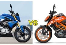 BMW G310R Vs KTM Duke 390