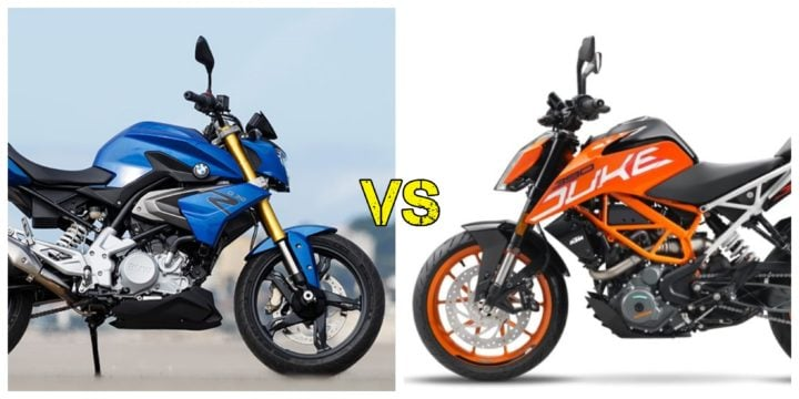BMW G 310 R Vs KTM Duke 390