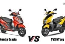 Honda Grazia Vs TVS NTorq front