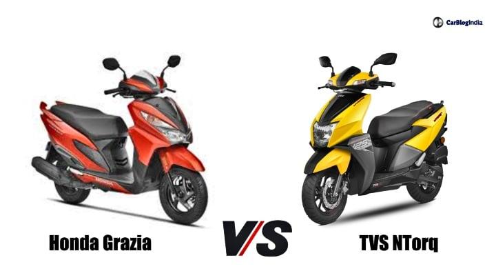 TVS Ntorq 125 Vs Honda Grazia – Specification Comparison