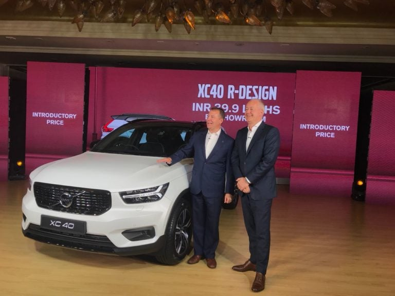 Volvo XC40 SUV Launched In India; Priced At Rs 39.90 Lakhs