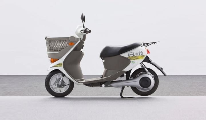 electric scooter suzuki e lets side profile