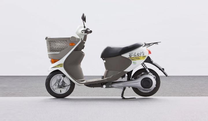 electric scooter suzuki e lets side profile