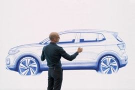 volkswagen t-cross suv sketch three image