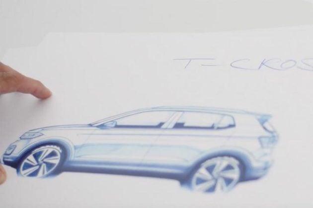 volkswagen t-cross suv sketch two image