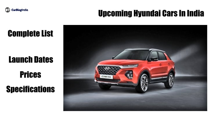 Upcoming Hyundai Cars In India: Launch Dates, Prices, Features and Specs