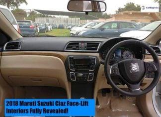 2018 Maruti Suzuki Ciaz Interiors