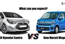2018 hyundai santro vs maruti wagon r social image