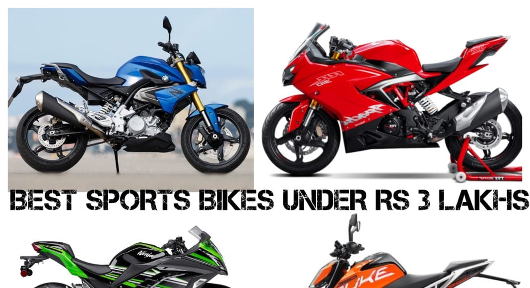 Best Sports Bikes under Rs 3 Lakhs