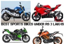 Best Sports Bikes under Rs 3 Lakhs