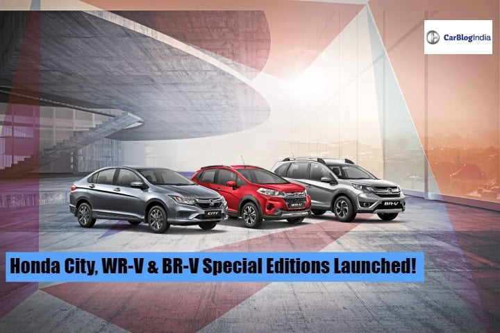 Honda City, WR-V And BR-V Special Edition Launched In India
