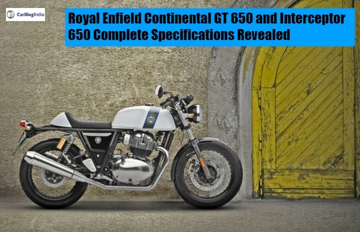 Royal Enfield Continental GT 650 and Interceptor 650 main image