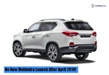 No New Mahindra Launch After April 2019