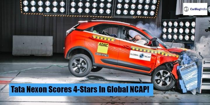 Tata Nexon Scores 4-Stars In Global NCAP Crash Tests