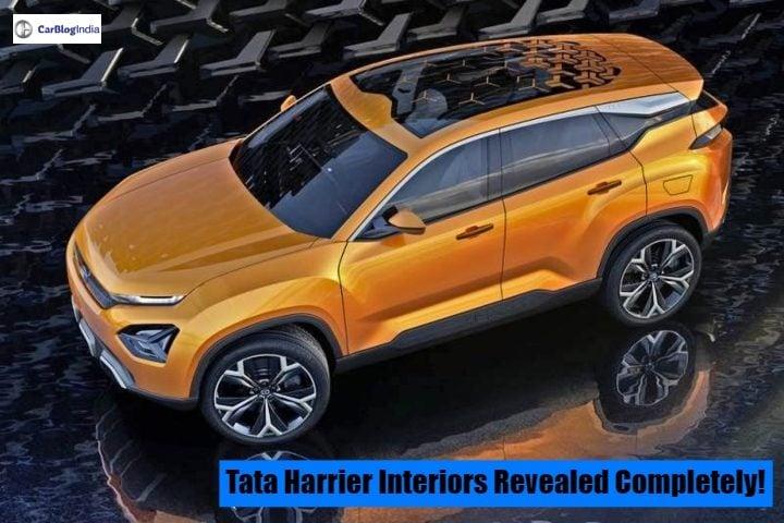 Tata Harrier Interiors Revealed In Full Glory Through
