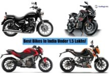 best bikes in india under 1.5 lakhs image