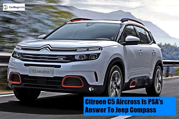 citroen c5 aircross suv front image