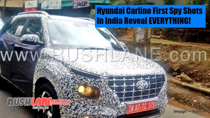 Hyundai Carlino first Spy Shots in India reveal EVERYTHING!- Images and Details