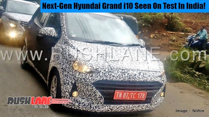 Next Generation Hyundai Grand i10 caught testing in India; Launch likely next year