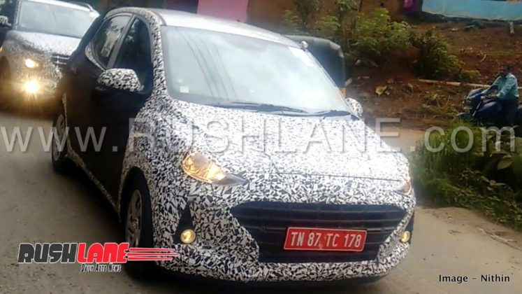 hyundai grand i10 spy front two image