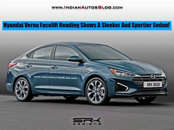 Hyundai Verna Facelift Rendering shows a Sleeker and Sportier sedan- Images