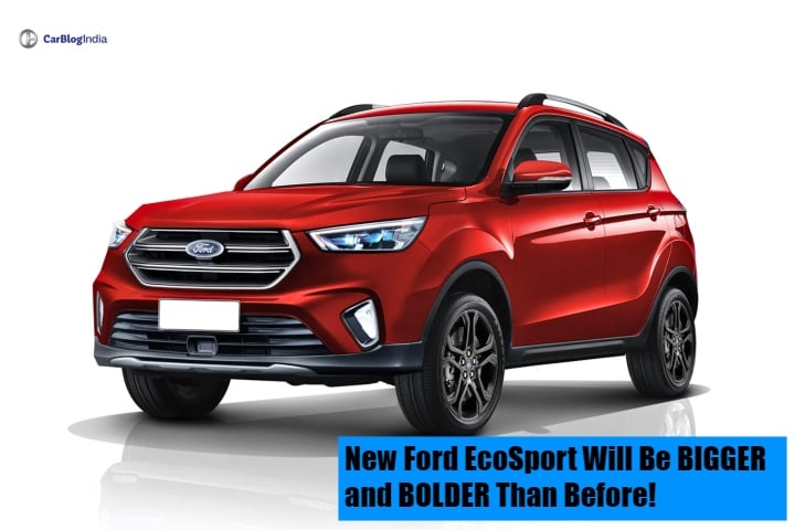 Next Generation Ford EcoSport will be Bigger and Bolder than before- Rendering