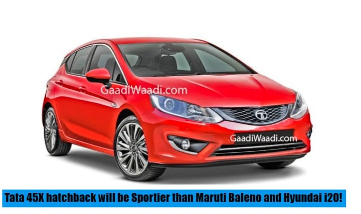 Tata 45X hatchback will be Sportier than Maruti Baleno and Hyundai i20- Rendering