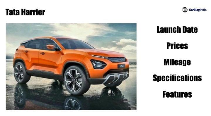 tata harrier launch date price mileage image