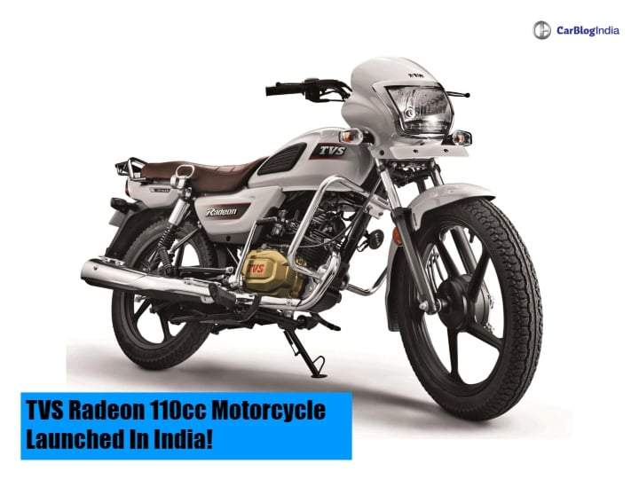 TVS Radeon 110cc Motorcycle Launched In India; To Compete With Hero Splendor